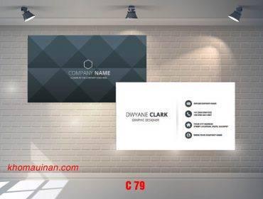 Bộ sưu tập mẫu name card kinh doanh Mẫu C79