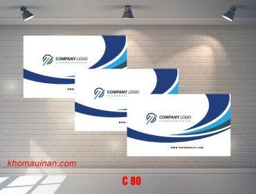 Bộ sưu tập mẫu name card kinh doanh Mẫu C80