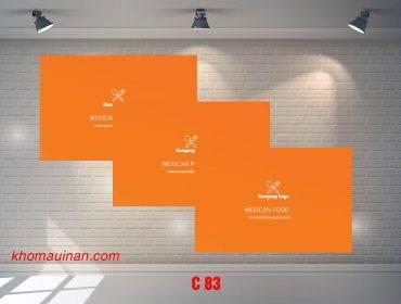 Bộ sưu tập mẫu name card kinh doanh Mẫu C83