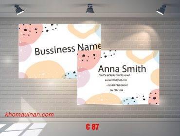 Bộ sưu tập mẫu name card kinh doanh Mẫu C87