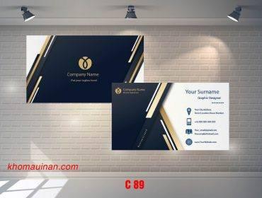 Bộ sưu tập mẫu name card kinh doanh Mẫu C89