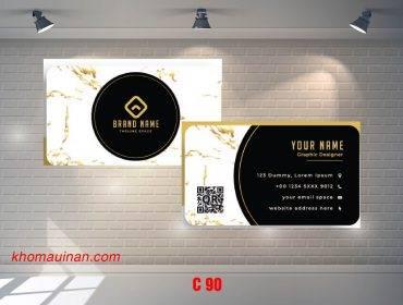 Bộ sưu tập mẫu name card kinh doanh Mẫu C90