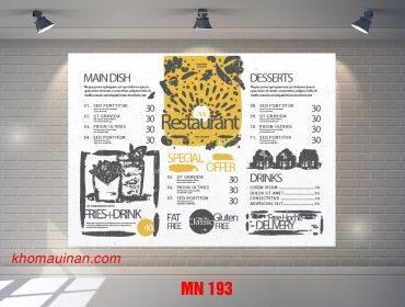 Mẫu Menu MN 193