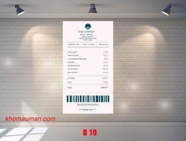 Mẫu sưu tập hóa đơn – B 10