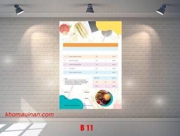 Mẫu sưu tập hóa đơn – B 11