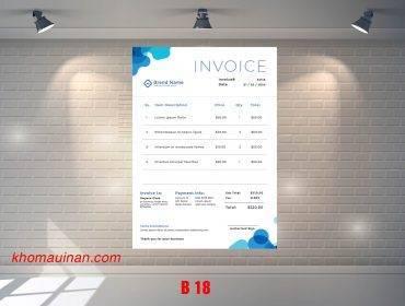 Mẫu sưu tập hóa đơn – B 18