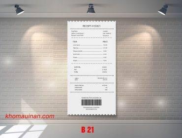 Mẫu sưu tập hóa đơn – B 21